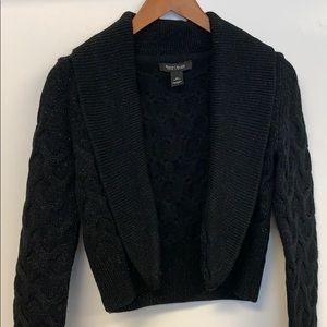 White House Black Market WHBM black bolero sweater